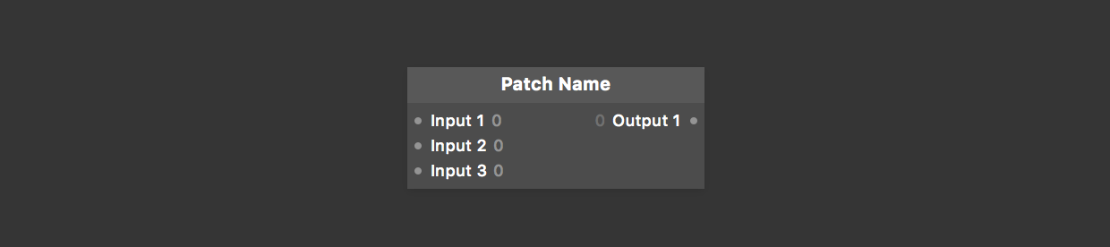 A function in Patch format in Origami Studio.