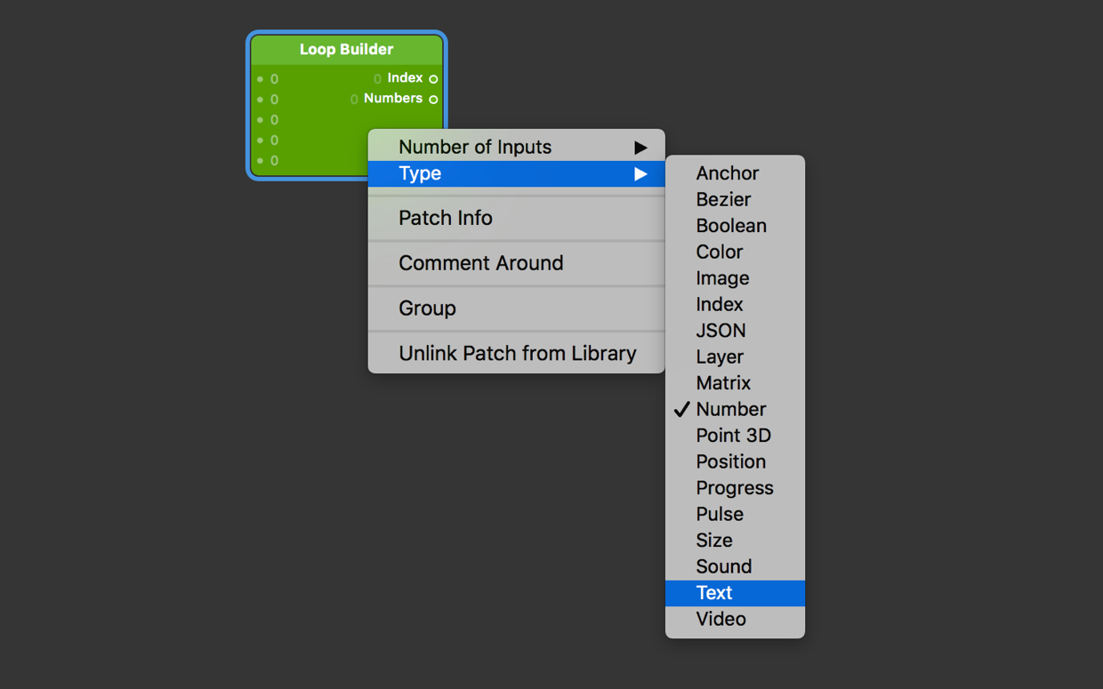 The [Loop Builder](../../documentation/patches/builtin.loop.builder.html) patch supports a variety of input types.