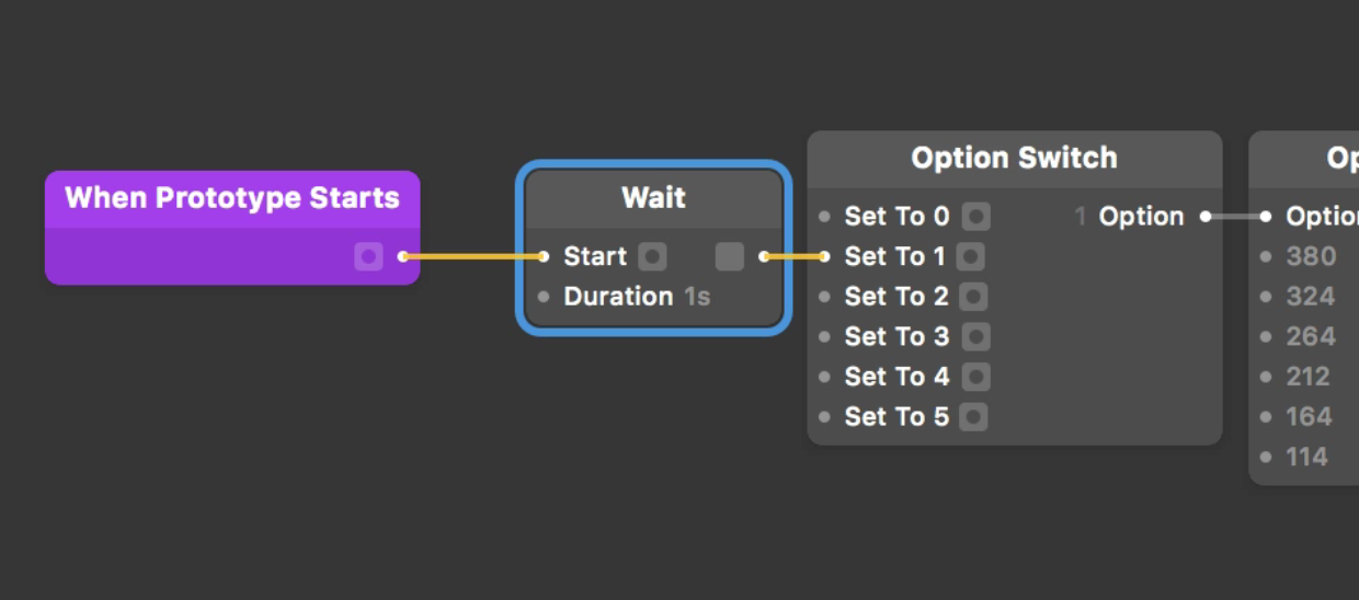 Make sure the [Wait](../../documentation/patches/builtin.waitTimer) patch connects to the Set To 1 input.